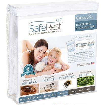 图片 SafeRest 经典轻薄 防水抗过敏床垫保护套 (6-9吋)