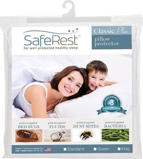 图片 SafeRest 经典轻薄 防水抗过敏枕头套