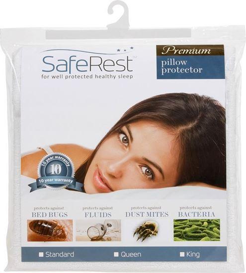图片 SafeRest 顶级纯棉 防水抗过敏枕头套