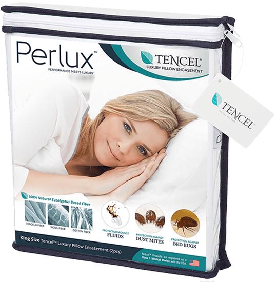 圖片 Perlux 頂級天絲防水抗過敏枕頭套